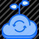 cloud, data, farm, farmer, garden, information, smart icon