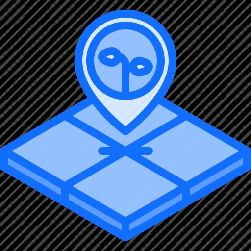 farm, farmer, garden, land, location, pin, smart icon