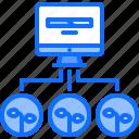computer, data, farm, farmer, garden, loading, smart icon