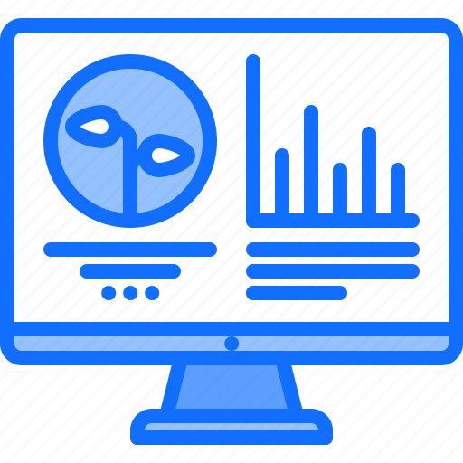 chart, farm, farmer, garden, smart, sprout, statistics icon