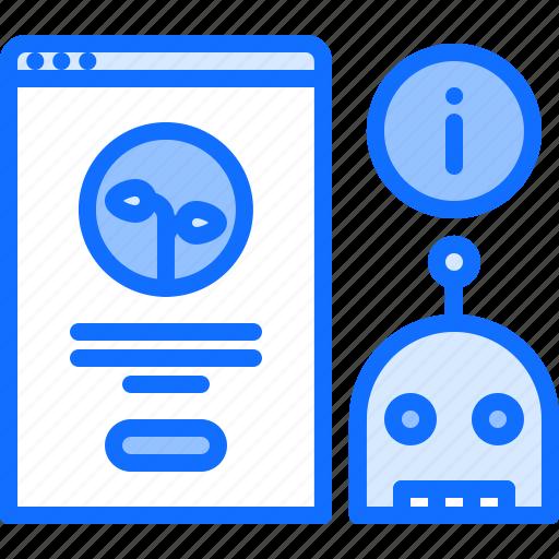bot, farm, farmer, garden, interface, robot, smart icon