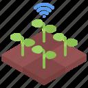 farm, farmer, fi, garden, land, smart, wi icon