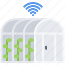 farm, farmer, fi, garden, greenhouse, smart, wi icon