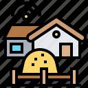 farm, harvest, home, house, rural icon