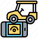 car, control, monitoring, remote, vehicle icon