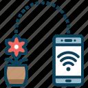 communication, signal, smart farm, smart pot, technology, wifi icon