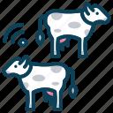 animal farm, cows, domestic animal, milk, smart farm icon