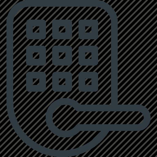 door, home, lock, smart icon