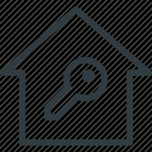 home, smart, unlock icon
