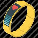 activity tracker, fitness band, fitness tracker, health tracker, wearable tech icon
