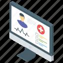 medical website, online checkup, online doctor, online pharmacy, smart gadget icon