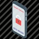 eco app, eco mode, mobile app, smart gadget, smart home app icon