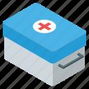 first aid box, first aid kit, medicine box, pills case, tablet box icon