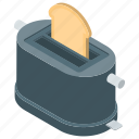 bread toaster, home appliance, kitchen appliance, oven, toaster icon