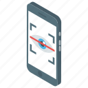 biometric, eyescan, iris scanning, smart app, smartphone application icon