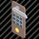 door lock, hotel room lock, lock scan, security room, smart lock icon
