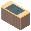 stove, kitchen, oven, burner, grill, cooking range icon