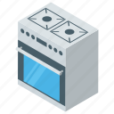 burner, cooking range, grill, kitchen, oven, stove icon