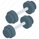 barbell, dumbbells, gym weights, kettlebells, weight lifting icon