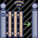 arrow, barrier, border, gate, move, wireless