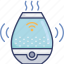 air, control, device, electronic, humid, humidifier, wireless icon