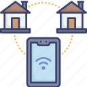 connect, connection, home, house, smart, smartphone, wireless icon