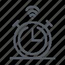alarm, clock, house, smart, time icon icon
