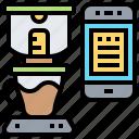 coffee, maker, smartphone, technology
