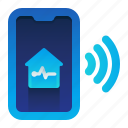 control, house, life, phone, smart icon