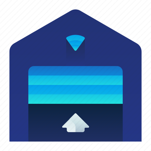 Garage, house, open, smart, smarthouse, wireless icon - Download on Iconfinder