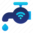 control, smart, tap, water, wireless icon