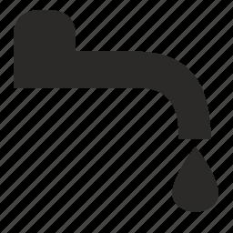 crane, drop, water icon