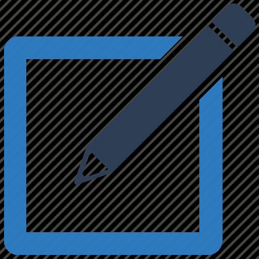 draw, edit, note, pencil, write icon