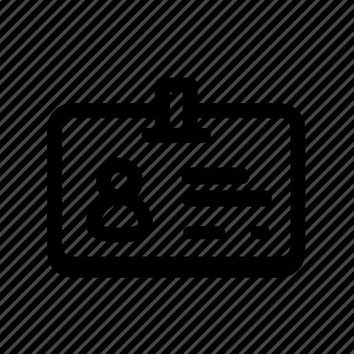 access, badge, id, permit, person icon