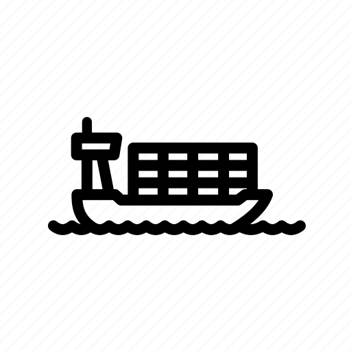 cargo ship, delivery icon