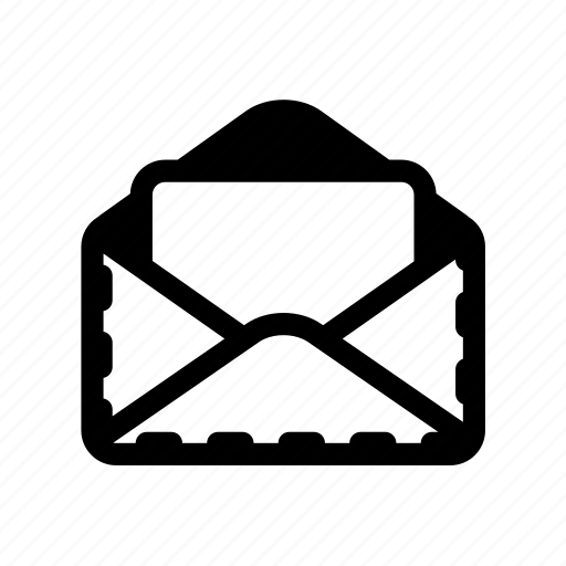 letter, mail, open envelope, poat icon