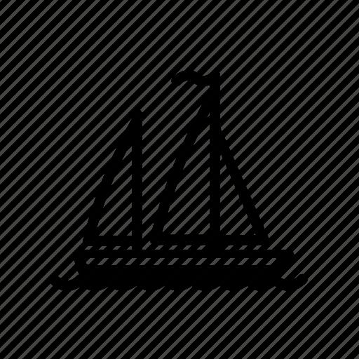 ocean, sailboat, sea, ship, water icon