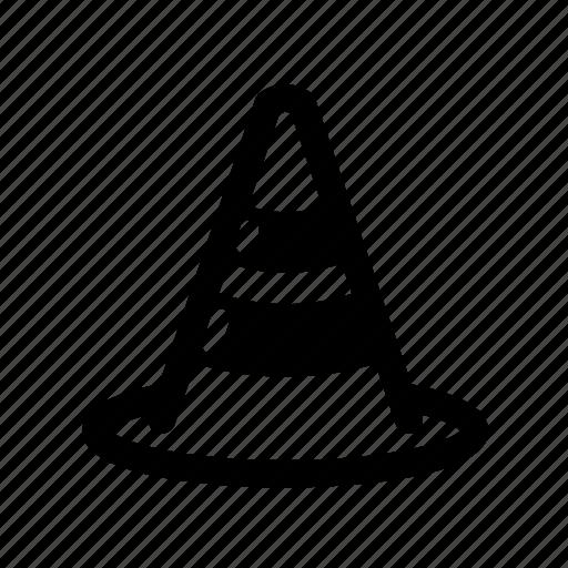 caution, road, street, traffic cone icon