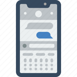 apple, device, iphone, messages, phones, smart, smart phone icon