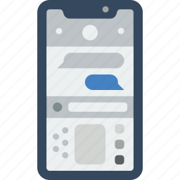 apple, device, messages, phones, smart, smart phone icon