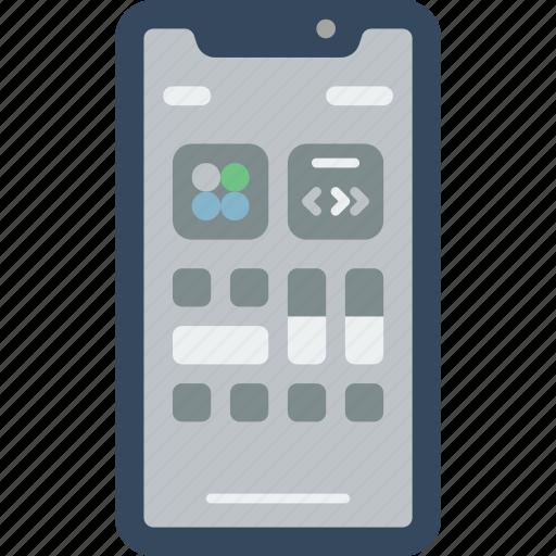 apple, center, control, device, phones, smart, smart phone icon