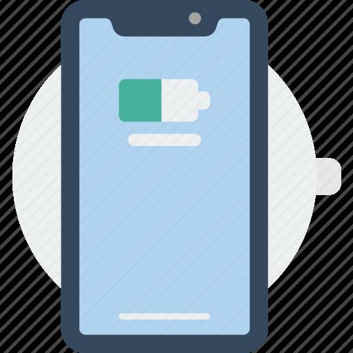 apple, charging, device, phones, smart, smart phone, wireless icon