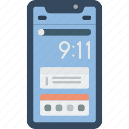 apple, device, iphone, notifications, phones, smart, smart phone icon