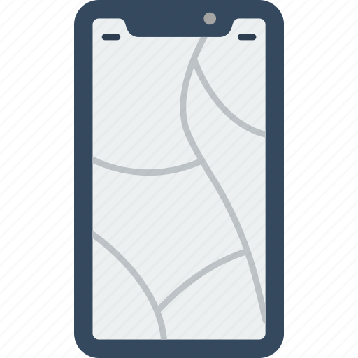 cracked, device, iphone, phones, screen, smart, smart phone icon