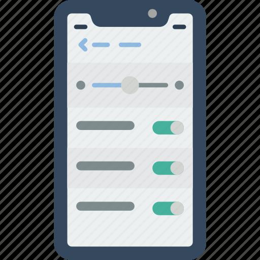 apple, device, iphone, phones, settings, smart, smart phone icon