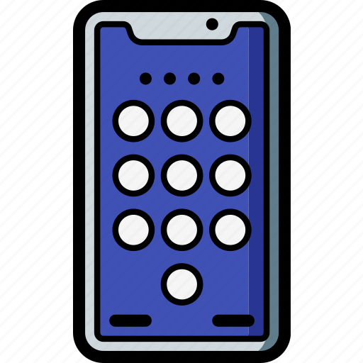 apple, device, iphone, keypad, smart, smart phone icon