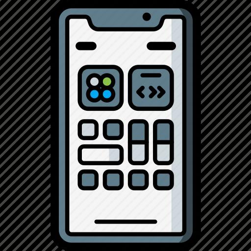 apple, center, control, device, iphone, smart, smart phone icon