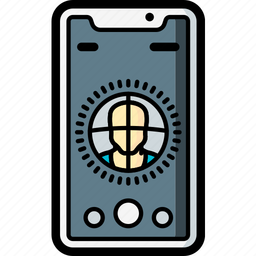 apple, device, facial, iphone, recognition, smart, smart phone icon
