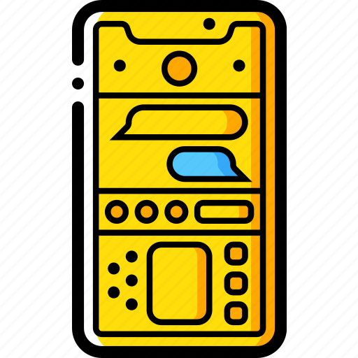 apple, device, iphone, messages, smart, smart phone icon