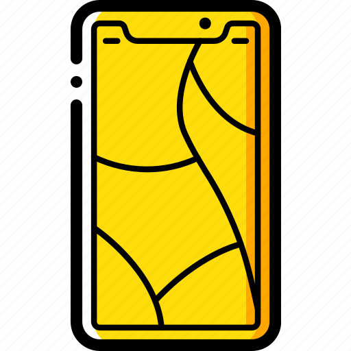 apple, cracked, device, iphone, screen, smart, smart phone icon